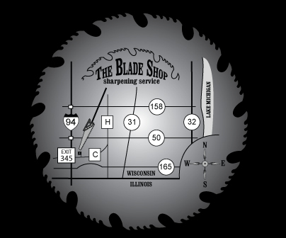 Map to The Blade Shop